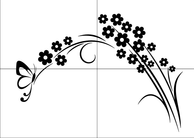 Motywy Roślinnekwiaty J40