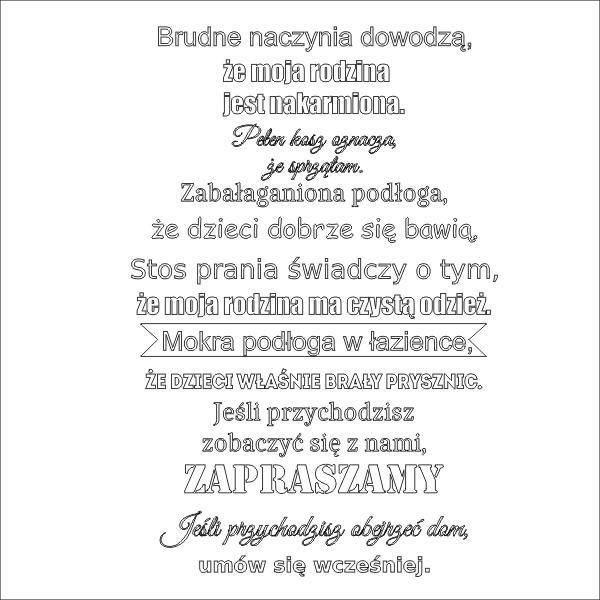 Napis N69 Szablony Malarskie I Naklejki Dekoracyjne Napisy I Cytaty